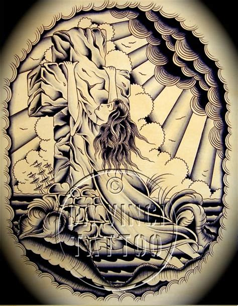 rock of ages tattoo da vinci flash ink and