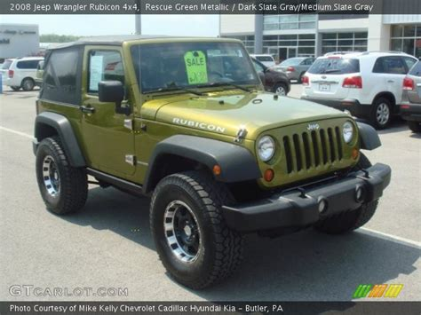 rescue green jeep rubicon rescue green metallic 2008 jeep wrangler rubicon 4x4