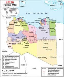 libya map with cities political map of libya country maps maps