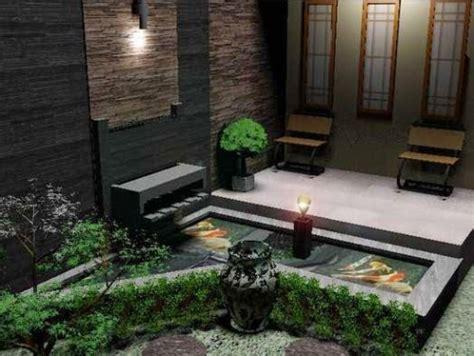 Kolam Minimalis Kecil rumah minimalis modern 1 lantai dengan teras dan kolam