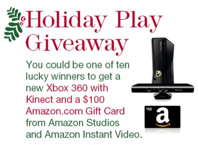 Walmart Xbox 360 100 Dollar Gift Card - amazon holiday play giveaway enter to win xbox 360 and 100 amazon gift card 10