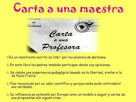 carta de agradecimiento a una maestra los alumnos de lorenzo milani en la escuela de barbiana