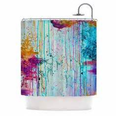 Orange And Teal Shower Curtain » Home Design 2017