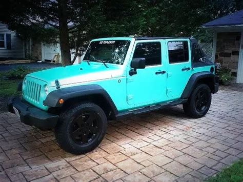 black and turquoise jeep jeep on quot aqua blue jeep http t co