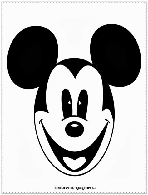 free coloring pages of mickey head