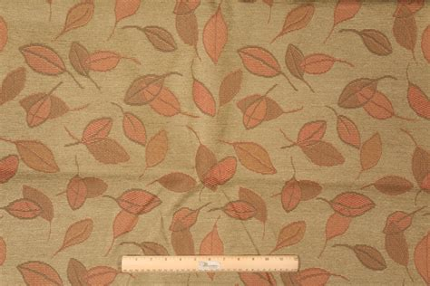tapestry upholstery fabrics 2 8 yards robert allen leaf mosaic chenille tapestry upholstery fabric in meadow