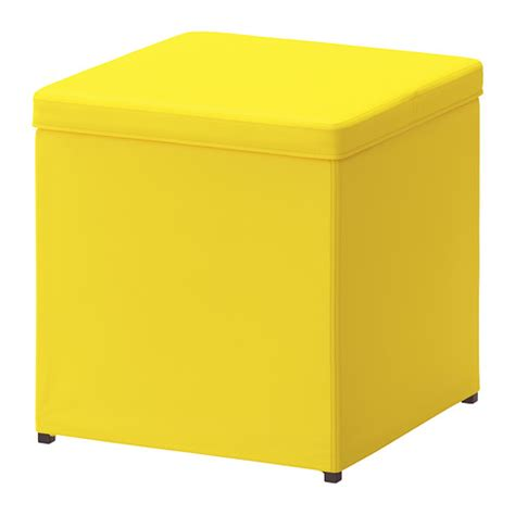 Bosn 196 S Ottoman With Storage Ransta Yellow Ikea Ikea Ottomans With Storage