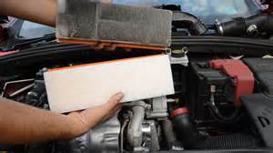 le wechseln how to remove and replace air filter peugeot citroen 1 6