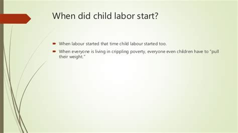 how did new year start history when did child labor start