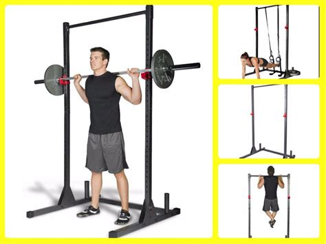 squat power rack stand cage fitness equipment home