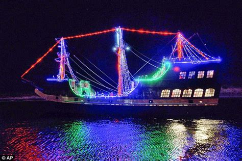 Cruise Of Lights by Sailors Light Up The With Festive Boat