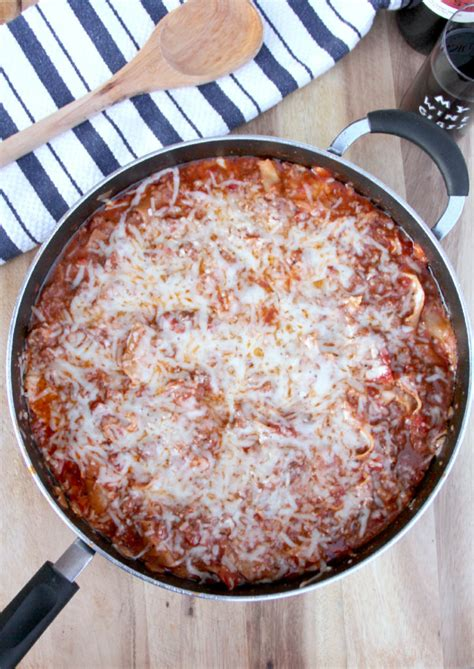 lasagna without ricotta or cottage cheese easy skillet lasagna without ricotta in a southern kitchen