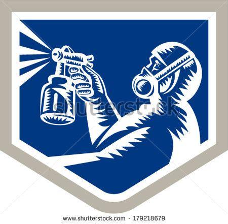 spray painter logo stock images similar to id 32063401 spray gun vector