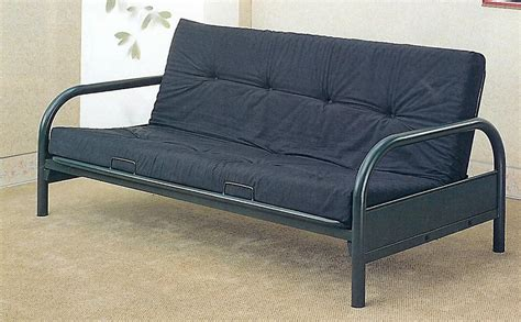 black metal futon coaster modern futon sofacouch frame black metal bed