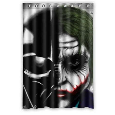 joker shower curtain joker and star wars darth vader customized design