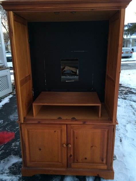 Craigslist Armoire by Clunky Tv Armoire Turned Custom Closet Tuesday S Treasures Funcycled