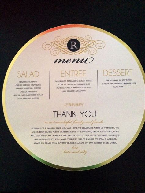 ivory charger plates gold ivory wedding menu thank you for the charger