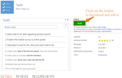 free to do list add on for microsoft word taskit
