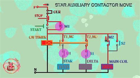 delta starter wiring diagram with timer