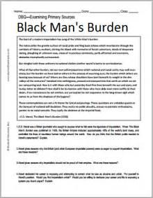 e d morel s the black man s burden dbq student handouts