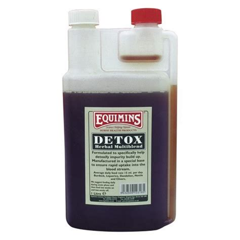 Detox Blend For Dogs by Equimins Detox Liquid Herbal Blend 1l Feed Tack
