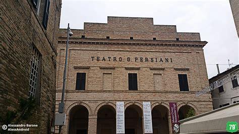 teatro persiani teatro persiani recanati marche italia viaggio