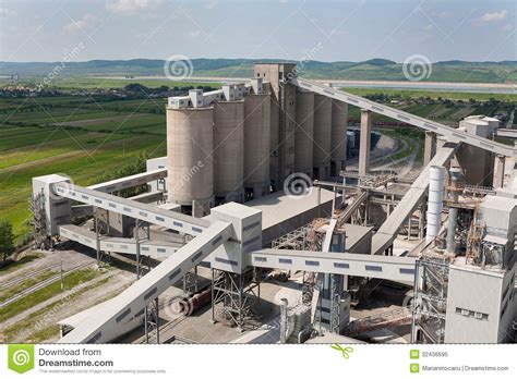 cement factory cement factory royalty free stock photo image 32436695