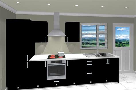 Single Galley Kitchen by Cheap Affordable Kitchen Package With Black Doors Trade