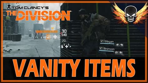 Vanity Items by The Division Vanity Items