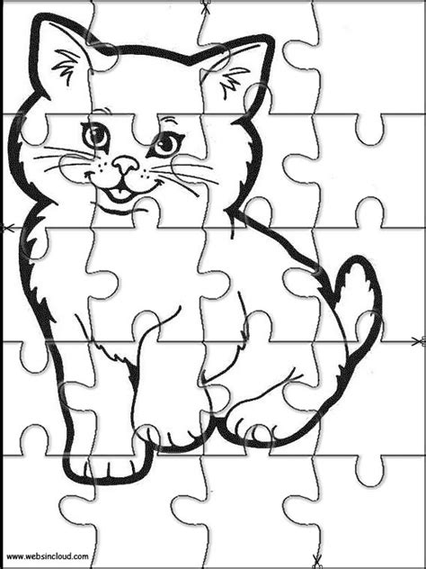 hello cut out template animals printable jigsaw puzzles to cut out 211