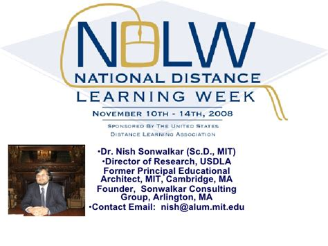 Mit Distance Learning Mba by Ndlw International Power Point Wimba Wednesday