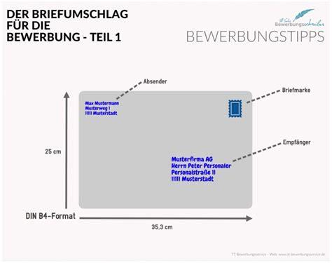 Brief B4 Schweiz bewerbung briefumschlag versandtasche tipps