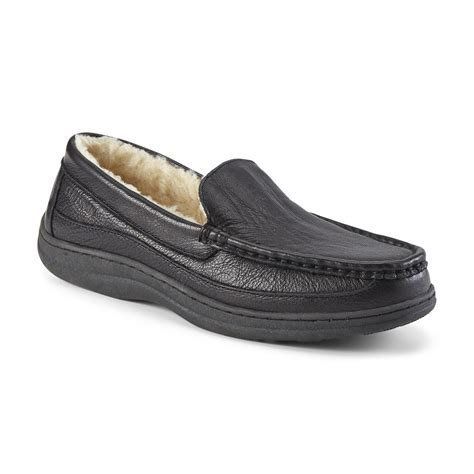craftsman s leather slipper black shoes s