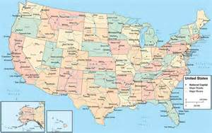 map of the states and cities map travel