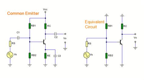 adding a capacitor in parallel with the emitter resistor of a common emitter lifier would transistor hybrid model