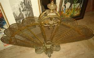 antiquebrass fireplace screen images frompo 1