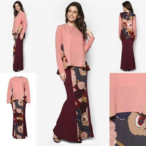 Baju Kurung Style Terkini fesyen baju kurung moden terkini 2016 2017 design by zolace two become pink fesyen trend