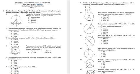 Matematika Kls Vii Semester Ii K13n warta urang galuh kumpulan soal ukk tingkat smp
