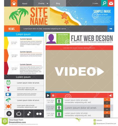 homepage design elements flat web design stock image image 32262361
