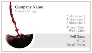 wine business cards templates wine business cards vistaprint