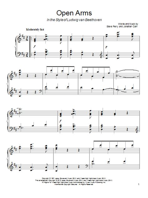 tutorial piano open arms open arms sheet music by journey piano 94567