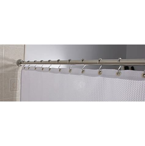 standard curtain rod standard 60 inch shower curtain rod chrome