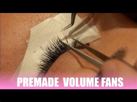 premade volume lash fans premade volume fans by celebrity lash review youtube