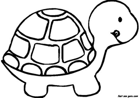 print out baby turtle coloring book pages printable