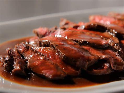 flat iron steak with cabernet sauce recipe sandra lee