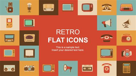 how to make a retro icon style using the appearance panel retro flat powerpoint icons slidemodel