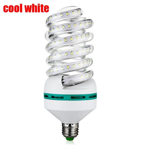 e27 24w 2835smd 120 led energy saving spiral l bulb