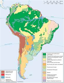 map of south america landforms