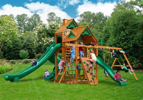 swing sets made in usa great skye ii swing set w wood roof made in u s a