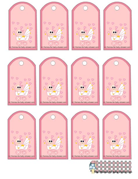 Free Printable Baby Shower Favor Tags Template free printable pink baby shower favor tags